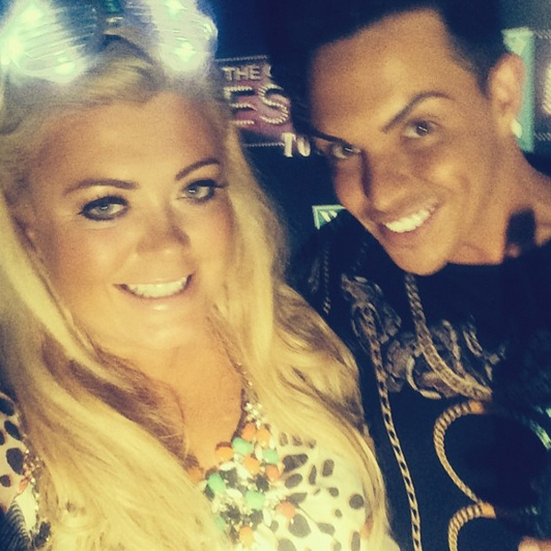 Gemma Collins and Bobby Cole Norris go to Swansea, 26 July 2014