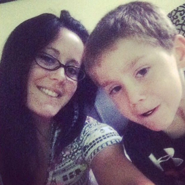 Teen Mom's Jenelle Evans and her son Jace, 2014