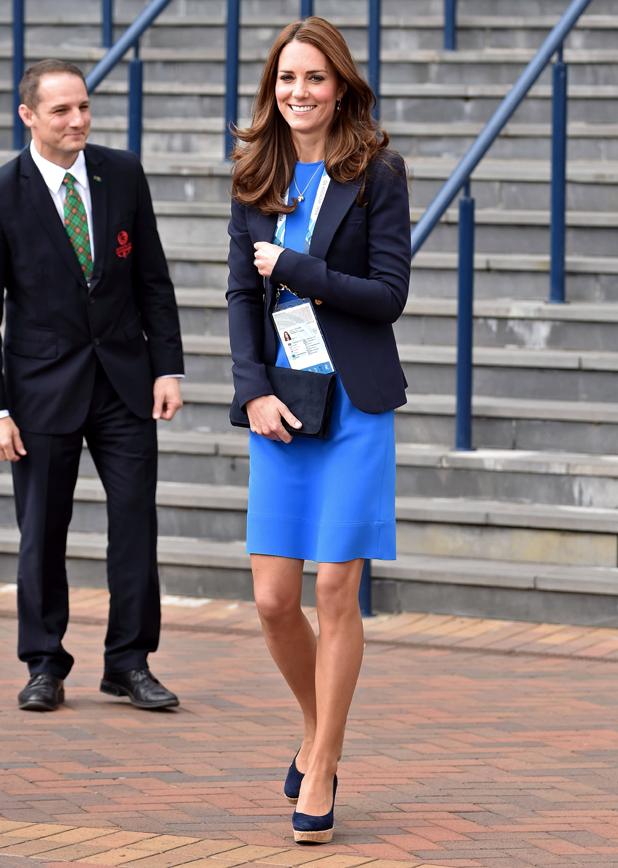 Catherine Duchess of Cambridge at Hampden Park, 20th Commonwealth Games, Glasgow, Scotland, Britain - 29 Jul 2014
