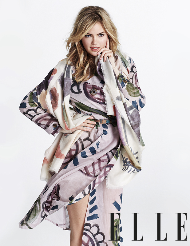 Kate Upton is photographed for ELLE UK magazine, on sale 1 August 2014