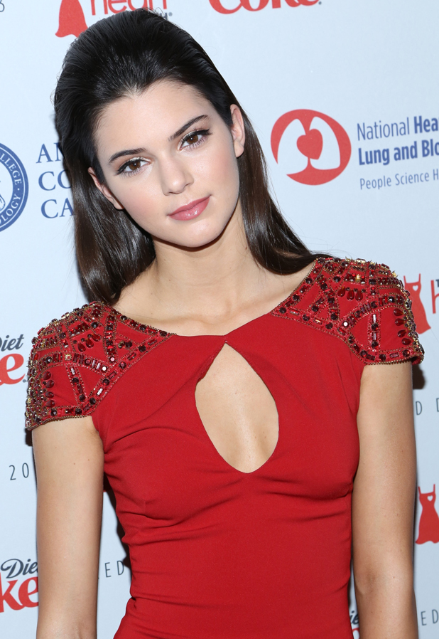 Kendall Jenner at The Heart Truth's Red Dress Collection, Hammerstein Ballroom - Runway - Fall 2013 Mercedes-Benz Fashion Week, 2013