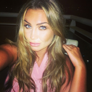 Lauren Goodger tries to forget sex tape with night out, 27 July 2014