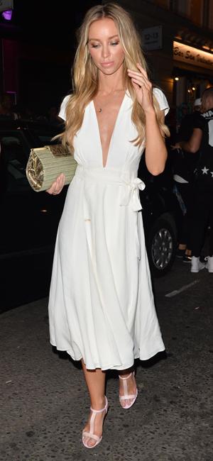 Lauren Pope at Miabella Club, London, Britain - 31 Jul 2014