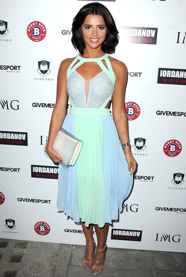 Lucy Mecklenburgh at Give Me Sport launch party, London, Britain - 30 Jul 2014
