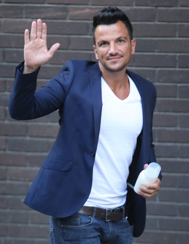 Peter Andre outside ITV Studios on Friday, 25 July 2014