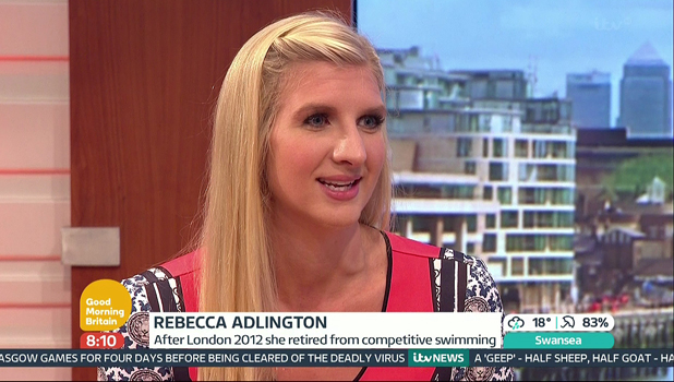 Olympic swimming star Rebecca Adlington appears on 'Good Morning Britain', to talk about her forthcoming wedding, with a hen do next weekend. Shown on ITV1 HD