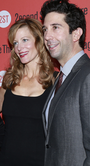 David Schwimmer and Anna Gunn, Opening night of Sex With Strangers at the Second Stage Theatre - Arrivals, 30 July 2014