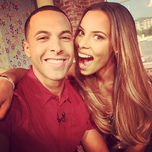 Rochelle and Marvin Humes pre-show selfie, This Morning, ITV, Instagram 25 July