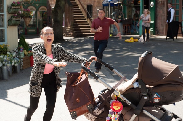 Hollyoaks, Cindy runs in front of a bus, Mon 11 Aug