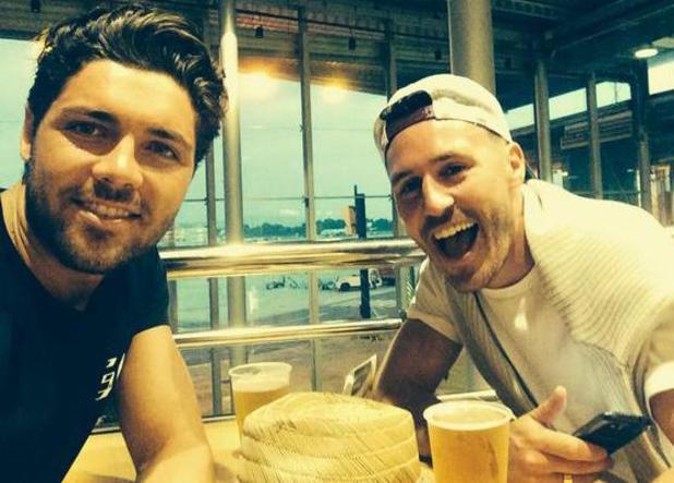TOWIE's Tom Pearce heads to Ibiza with a friend - 4 August 2014