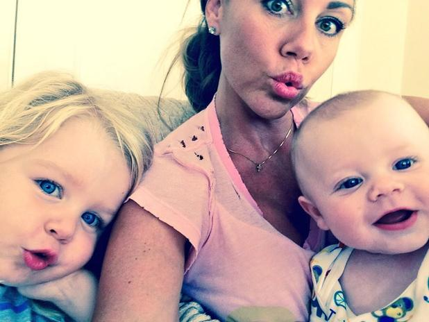 Michelle Heaton poses for a selfie with AJ and Faith - 8 August 2014