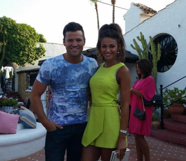 Mark Wright and fiancée Michelle Keegan at his cousin Leah Wright's wedding (24 July)