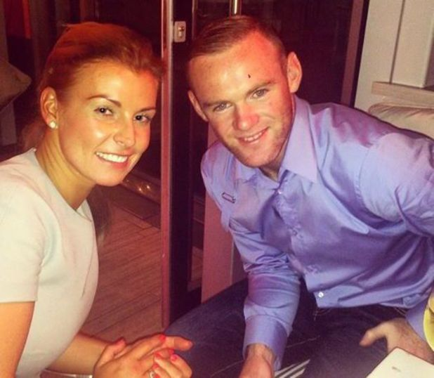Coleen Rooney is reunited with husband Wayne after Manchester United pre-season friendly in US - 7 August 2014