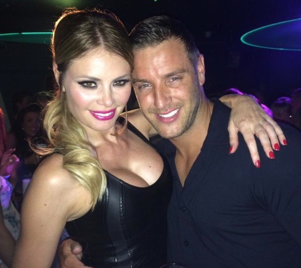 TOWIE's Chloe Sims and Elliott Wright party at CTNZ bar in Chelmsford, Essex - 2 August 2014