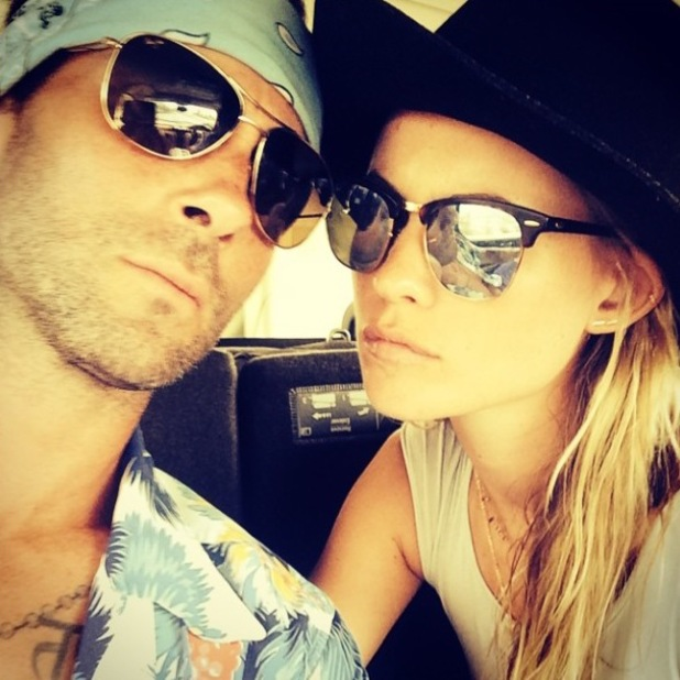 Adam Levine and wife Behati Prinsloo's first post-wedding selfie (4 August).