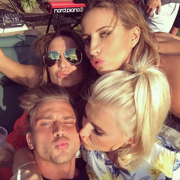 TOWIE's Sam and Billie Faiers help celebrate Ferne McCann's birthday at BBQ - 3 August 2014
