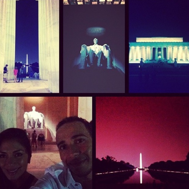 Lewis Hamilton and Nicole Scherzinger do some sightseeing in Washington, D.C. (4 August).