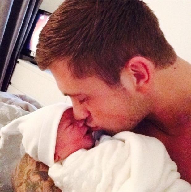 TOWIE's Dan Osborne shares a throwback of Teddy's birth - 7 August 2014