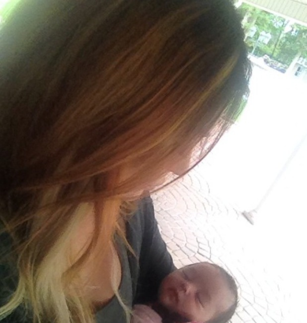 Jersey Shore star JWoww shares picture of baby daughter Melani (7 August).