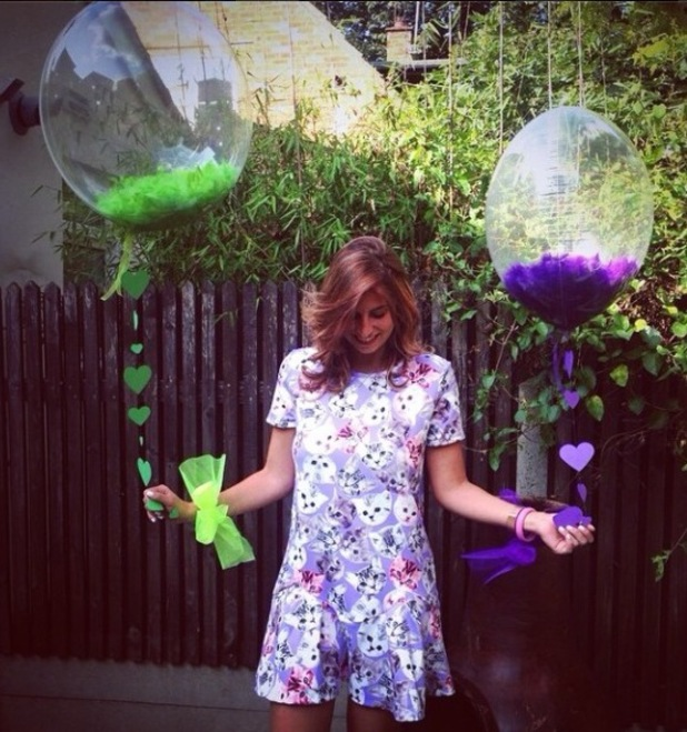 Ferne Mccann in cat dress, 6 August 2014