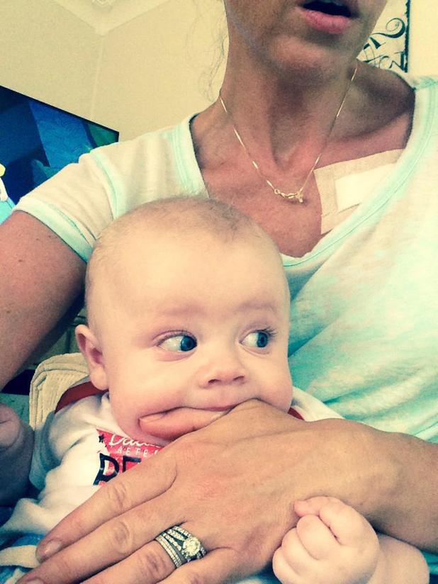 Michelle Heaton's son AJ is teething - 8 August 2014
