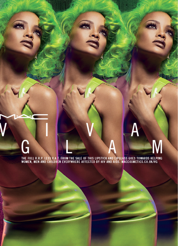 Rihanna's campaign picture for her new Viva Glam Rihanna 2 collection - August 2014