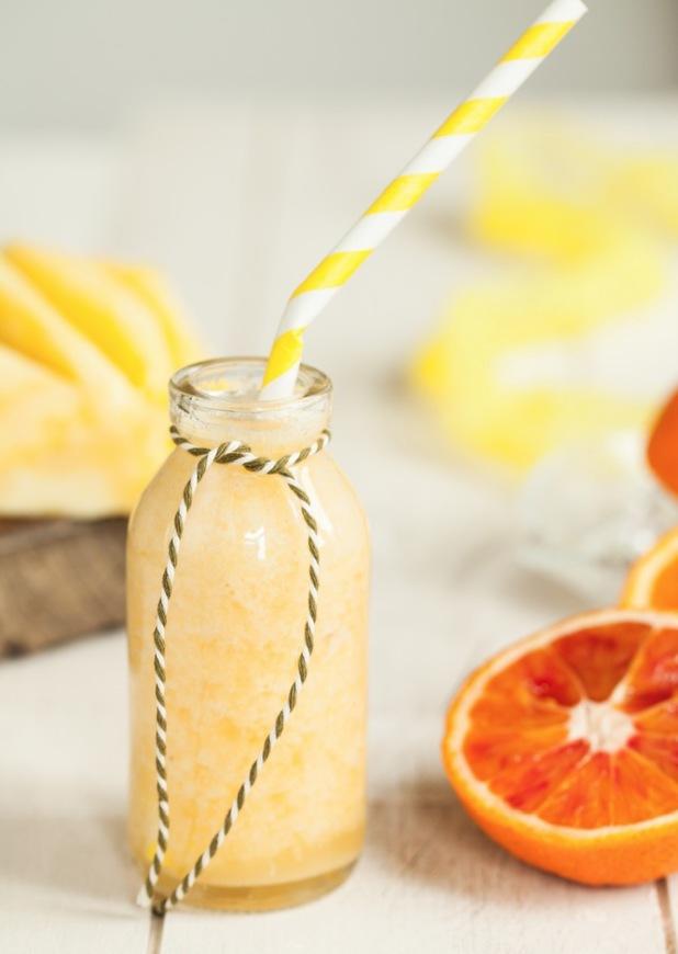 Pineapple, orange and banana smoothie
