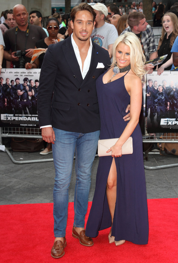 TOWIE's Danielle Armstrong and James 'Lockie' Lock at 'The Expendables 3' world film premiere held at the Odeon cinema - Arrivals. 4 August 2014.