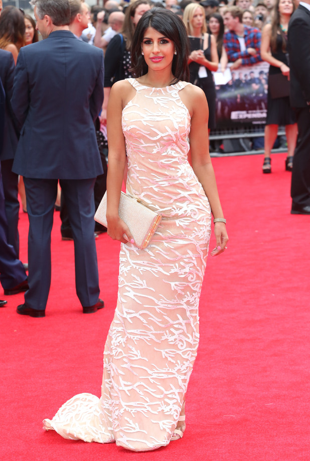 Jasmin Walia attends The Expendables 3 premiere in London, England - 4 August 2014