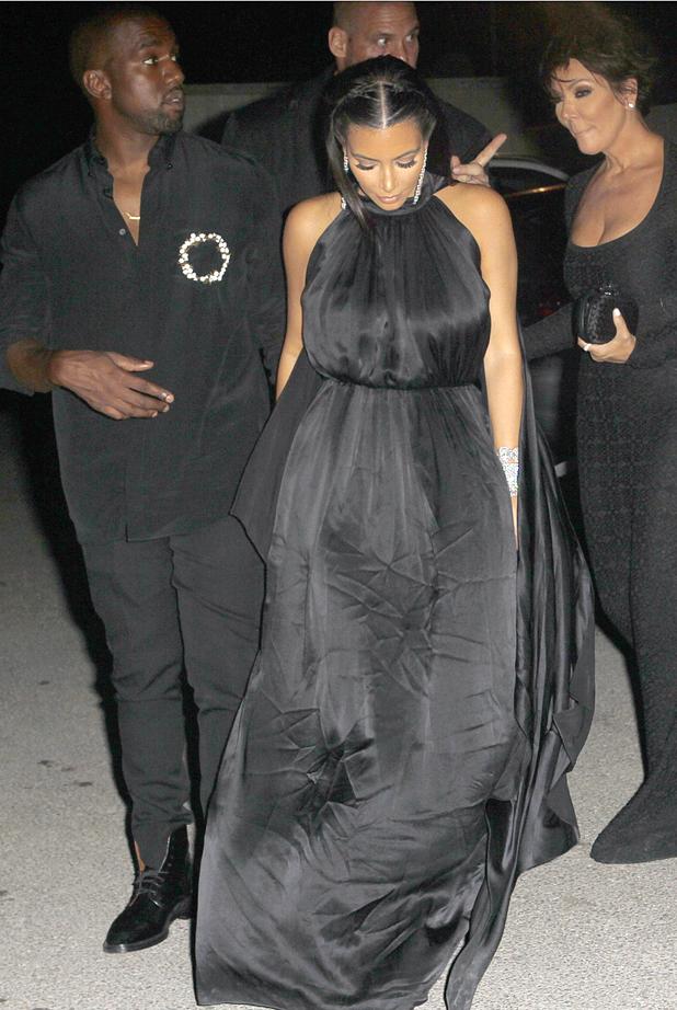 Kanye West, Kim Kardashian, Kris Jenner at the Amnesia Disco in Ibiza 2 Aug 2014