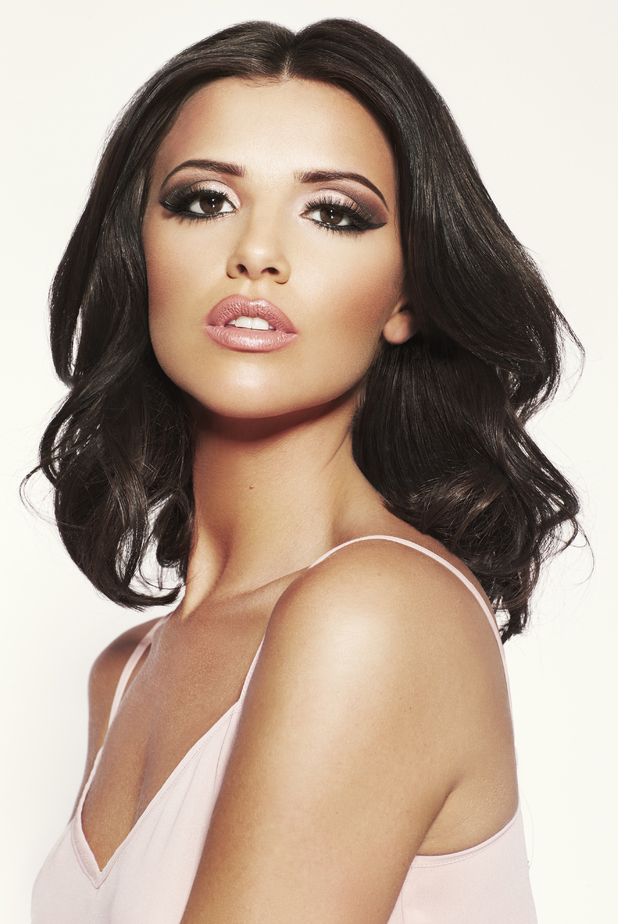 Lucy Mecklenburgh poses as the face of Sunkissed fake tan - August 2014