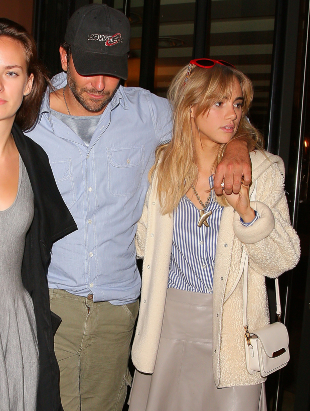 Bradley Cooper and Suki Waterhouse are sighted on August 7, 2014 in London, England