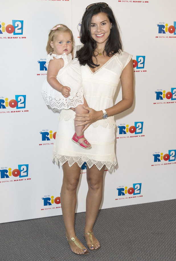 Imogen Thomas and daughter Ariana, Rio 2' DVD and Blu-Ray launch at London Zoo, Britain - 04 Aug 2014