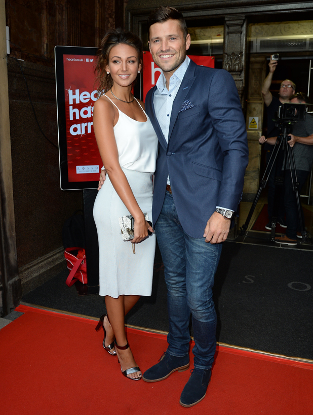 Michelle Keegan and Mark Wright arrive Rosso Restaurant for the launch of Heart FM in the North West, 7 August 2014