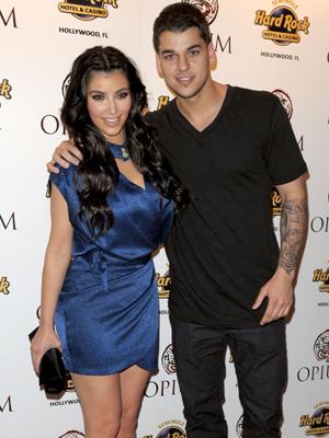 Kim Kardashian and brother Rob Kardashian, Grand opening of the new Opium club at The Hollywood Seminole Hard Rock Hotel & Casino Hollywood, Florida - 11.04.09