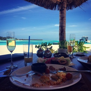 Danny Jones shares picture of breakfast view while on honeymoon with wife Georgia Horsley, Instagram 10 August
