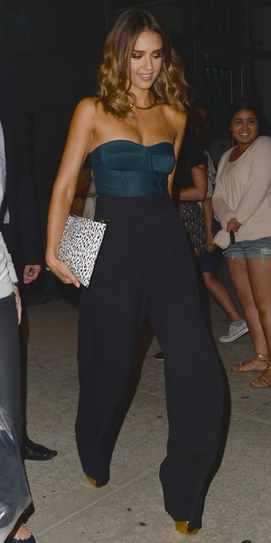 Jessica Alba spotted out in New York 13 August