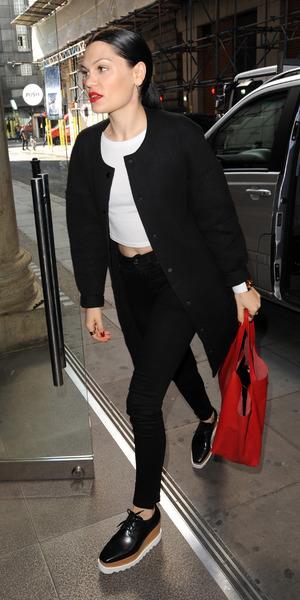 Jessie J arrives at Kiss FM, London 13 August