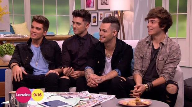 Union J appeared on Lorraine, ITV, London 14 August