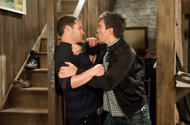 Emmerdale, Cain wants to know what Aaron's up to, Mon 18 Aug