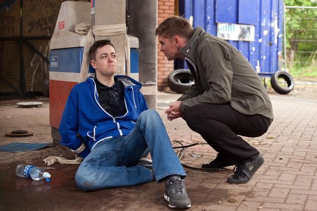 Hollyoaks, Ste kidnaps Finn, Wed 13 Aug
