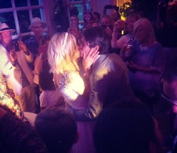 Fearne Cotton shares picture of wedding to Jesse Wood, 26 July 2014