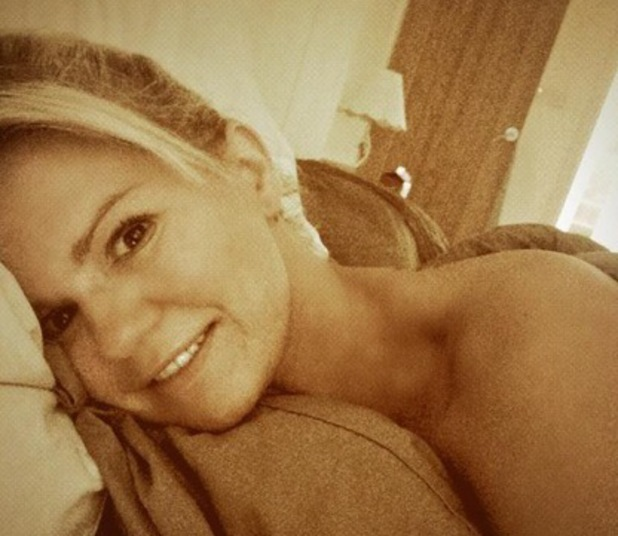 Kerry Katona gets breakfast in bed, Twitter 14 August