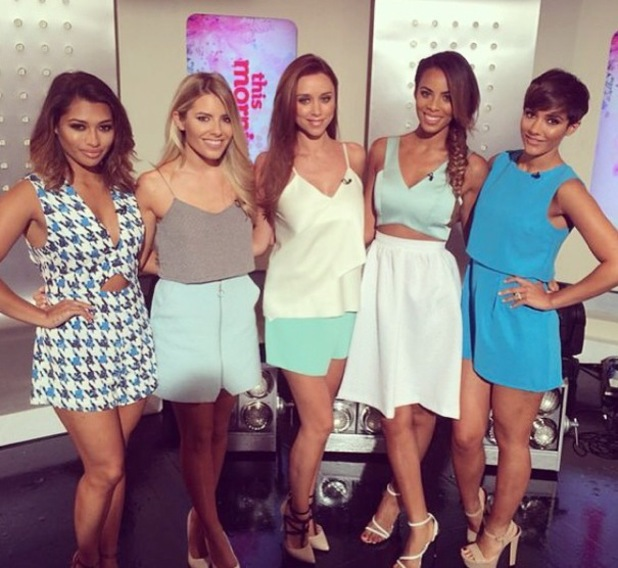 The Saturdays appeared on ITV's This Morning, London 11 August