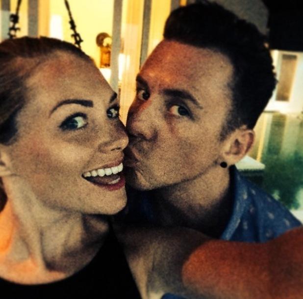 Danny Jones and Georgia Horsley on their honeymoon 9 August