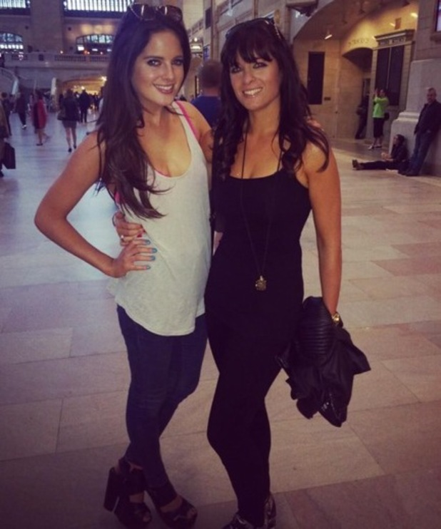 Binky Felstead and Anna Louise Felstead in Grand Central Station, New York 11 August