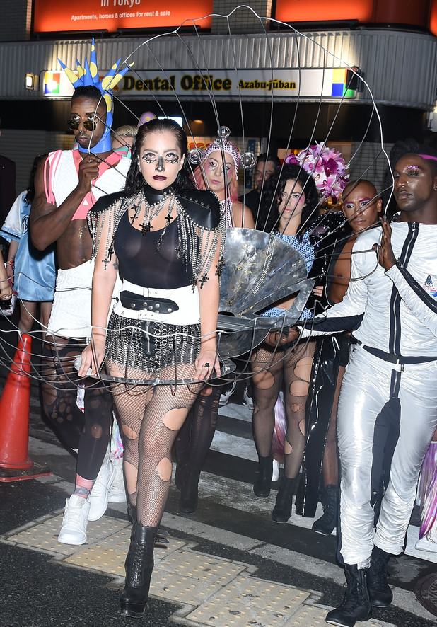 TOKYO, JAPAN - AUGUST 14: Lady Gaga and her show dancers visit ELE TOKYO club on August 14, 2014 in Tokyo, Japan. (Photo by Jun Sato/GC Images)