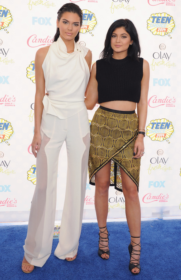 Kendall Jenner and Kylie Jenner attend the Teen Choice Awards 2014 in Los Angeles, America - 10 August 2014