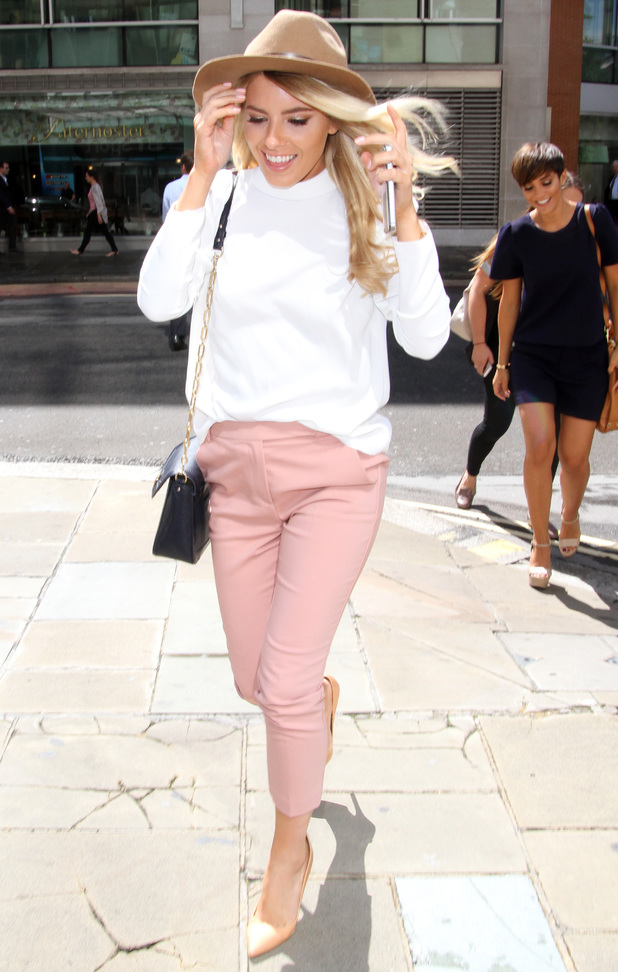 Mollie King spotted outside BT Sport's London offices, UK 11 August