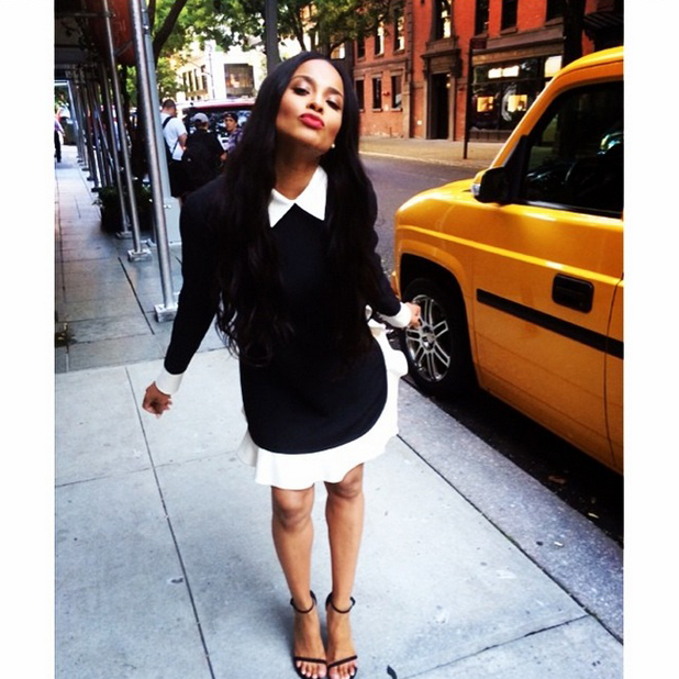 Ciara brushes off rumours of split from Future by tweeting cute pictures from New York, August 2014